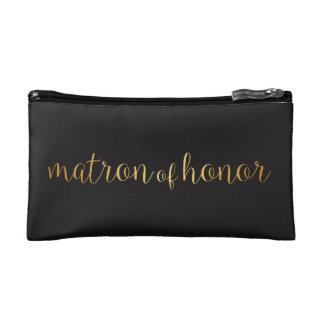 Matrone Ehreder goldenen Make-uptasche Makeup-Tasche