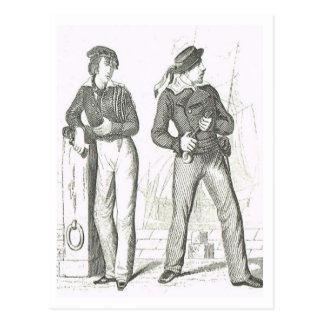 Matrosen 1800s postkarte