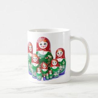 Matryoshka - матрёшка (russische Puppen) Kaffeetasse