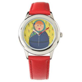 Matryoshka russische Puppen-moderner bunter Armbanduhr
