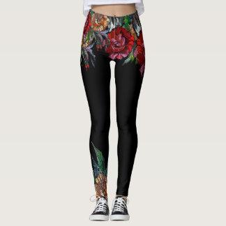 MATRYOSHKA SAMMLUNGSklares Blumenmuster Leggings