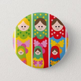 MatryoshkaBookmark Runder Button 5,7 Cm