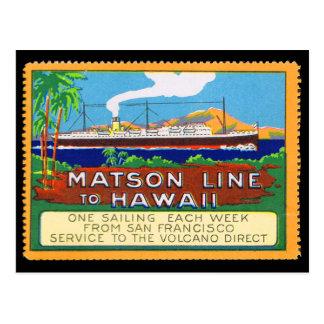 Matson zeichnet Plakat-Briefmarke circa 1915 Postkarte