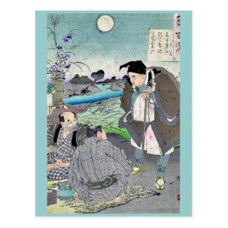 Matsuo Basho durch Taiso, Yoshitoshi Ukiyoe Postkarte