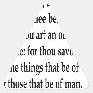 Matt. 16:23 dreieckiger aufkleber