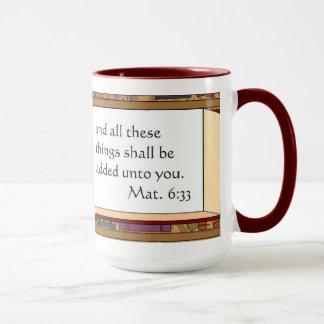 Matt.6: Kastanienbraune Tasse des Kaffee-33