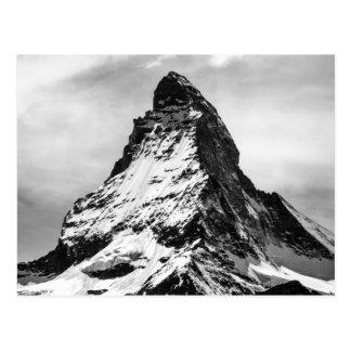 Matterhorn, Alpen Schwarzweiss Postkarte
