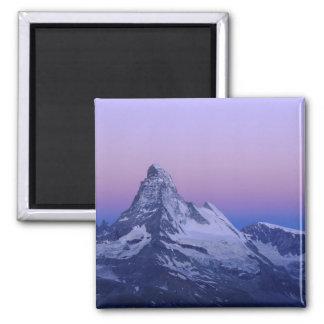Matterhorn an der Dämmerung, Zermatt, Schweizer Al Kühlschrankmagnete