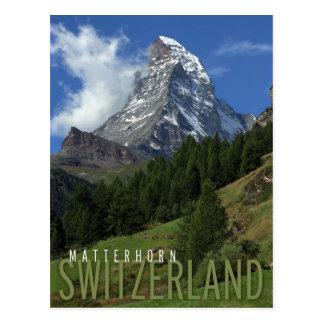 Matterhorn in der Schweiz Postkarte