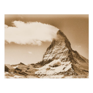 Matterhorn-Postkarte. Zermatt in der Schweiz Postkarte