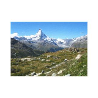 Matterhorn, Schweizer Alpen wickelte Leinwand ein