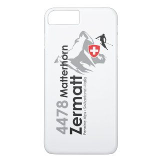 Matterhorn-Zermatt Skifahren iPhone 8 Plus/7 Plus Hülle