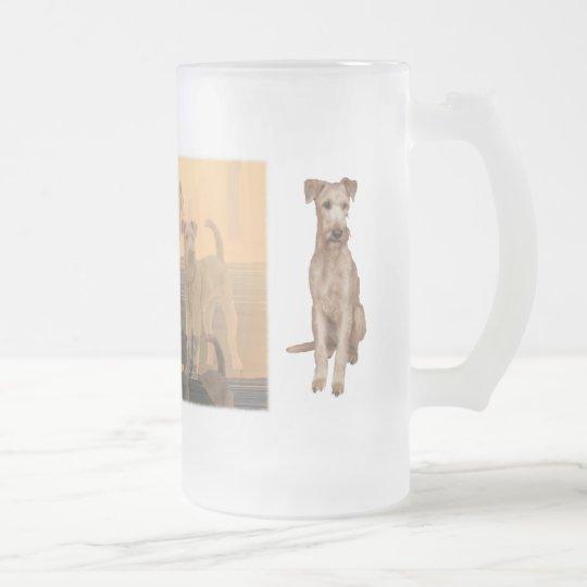 "Mattglastasse ""Irish Terrier"""