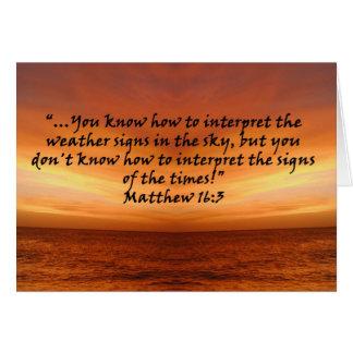 """Matthew-16:3"" durch Carter L. Shepard Karte"