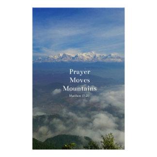 Matthew-17:20 Gebet bewegt Berge Briefpapier