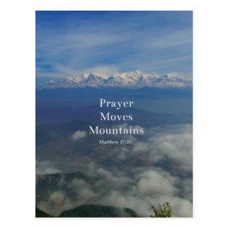 Matthew-17:20 Gebet bewegt Berge Postkarte