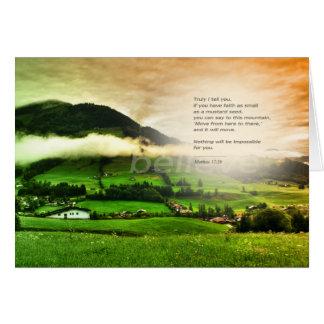 Matthew 17:20 Move mountains bible verse sunset Karte
