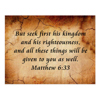 Matthew-6:33 Bibel-Vers Postkarte