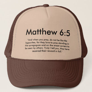 Matthew-6:5hut Truckerkappe