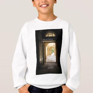 Matthew-7:7 schöner Bibel-Vers Sweatshirt