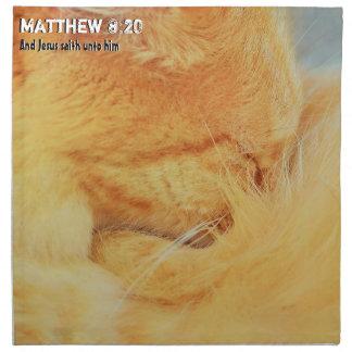 Matthew 8: 20 serviette