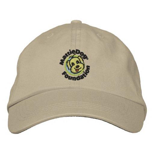 MattieDog kakifarbiger Hut Bestickte Mütze