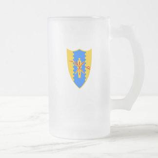 Mattierte Räuber-Tasse Mattglas Bierglas