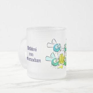 Mattierte Spaß-Tasse Mattglastasse