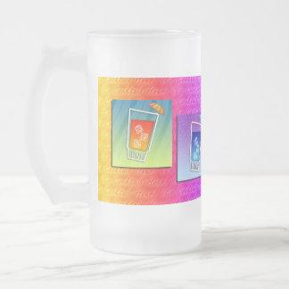 Mattierte Tassen - Pop-Kunst-Cocktails