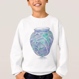 Mattierter grüner Kunst-Dekovase mit Heuschrecken Sweatshirt