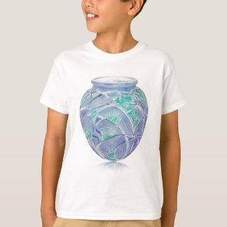 Mattierter grüner Kunst-Dekovase mit Heuschrecken T-Shirt