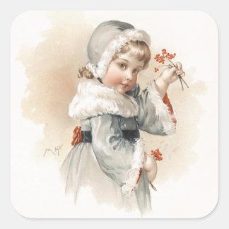 Maud Humphreys Winter-Mädchen Sticker