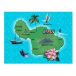 Maui-Karte Postkarte