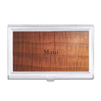 Maui Koa entwarf Visitenkarte-Halter Visitenkarten Etui