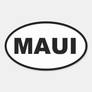 Maui Ovaler Aufkleber