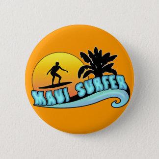 Maui-Surfer Runder Button 5,7 Cm