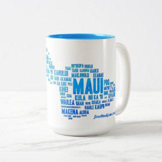 Maui-Wort-Wolken-Kaffee-Tasse Zweifarbige Tasse