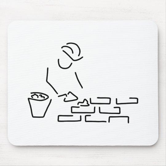 maurer bauarbeiter hausbau mauer mousepad