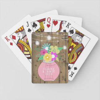 Maurer-Glas beleuchtet rustikale Gastgeschenk Spielkarten