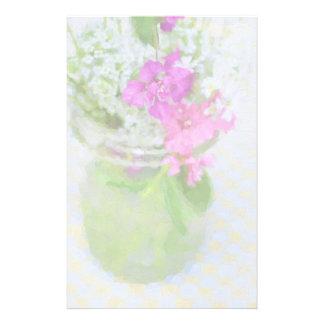 Maurer-Glas des Wildblumen-Malens Briefpapier