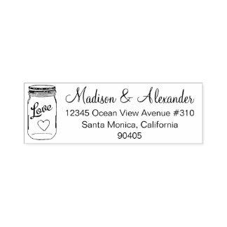 Maurer-Glas-Hochzeits-Adressen-Briefmarke, Selbst, Permastempel