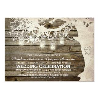 Maurer-Glas-Schnur beleuchtet Baum-Vintages 12,7 X 17,8 Cm Einladungskarte