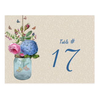 Maurer-GlasRomance GoldFish-Tischnummer-Karte Postkarten