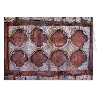 Maurerarbeit von Assisi Italien Karte