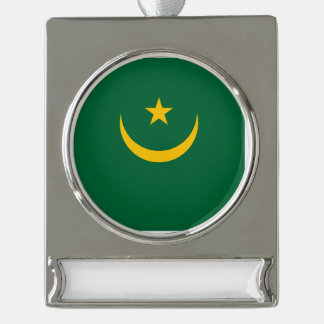 Mauretanien-Flagge Banner-Ornament Silber
