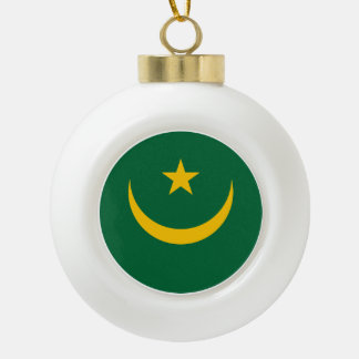 Mauretanien-Flagge Keramik Kugel-Ornament