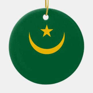 Mauretanien-Flagge Keramik Ornament