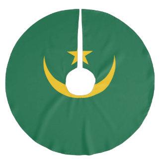 Mauretanien-Flagge Polyester Weihnachtsbaumdecke
