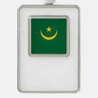 Mauretanien-Flagge Rahmen-Ornament Silber