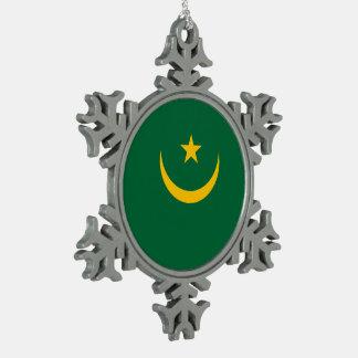 Mauretanien-Flagge Schneeflocken Zinn-Ornament
